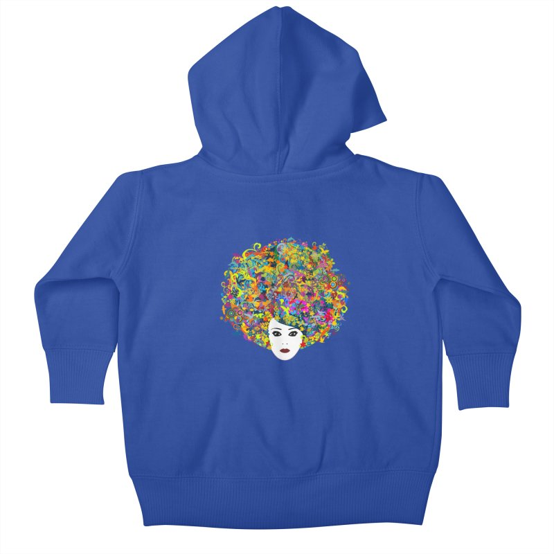 Great Hair Day Kids Baby Zip-Up Hoody by ferg's Artist Shop