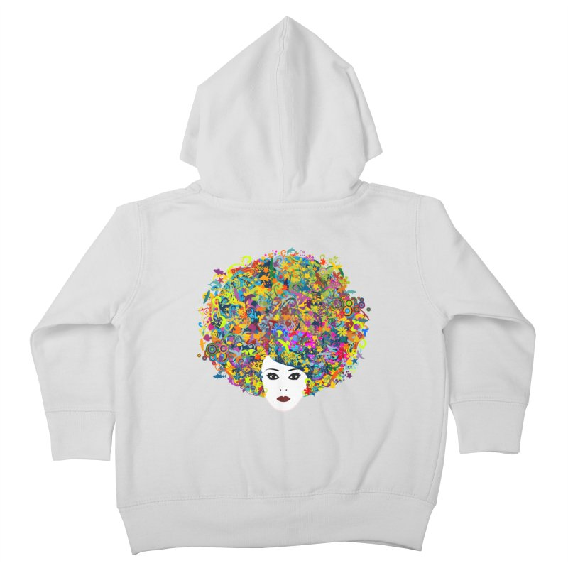 Great Hair Day Kids Toddler Zip-Up Hoody by ferg's Artist Shop