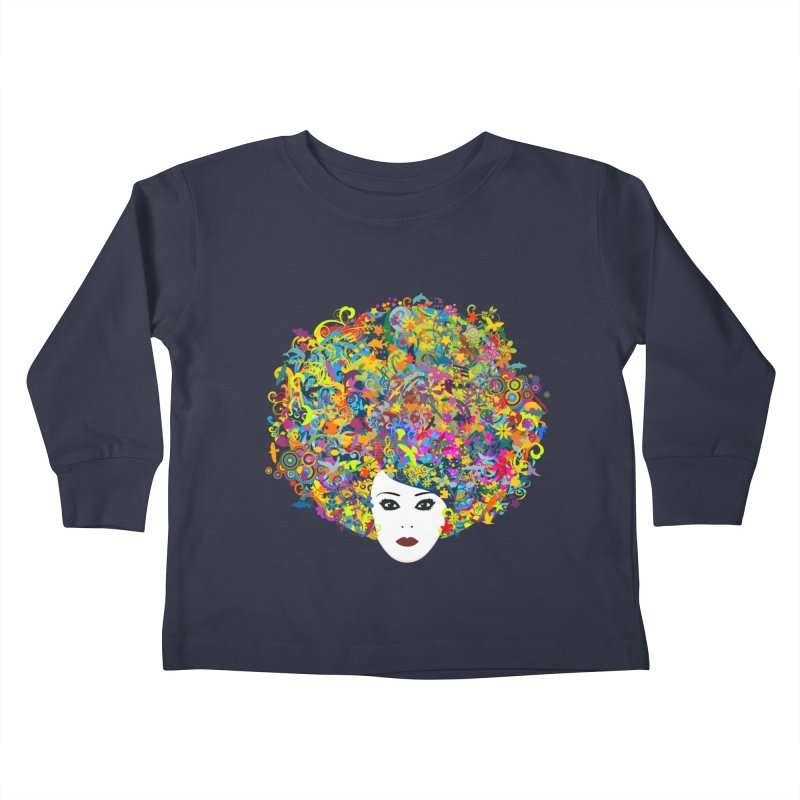 Great Hair Day Kids Toddler Longsleeve T-Shirt by ferg's Artist Shop
