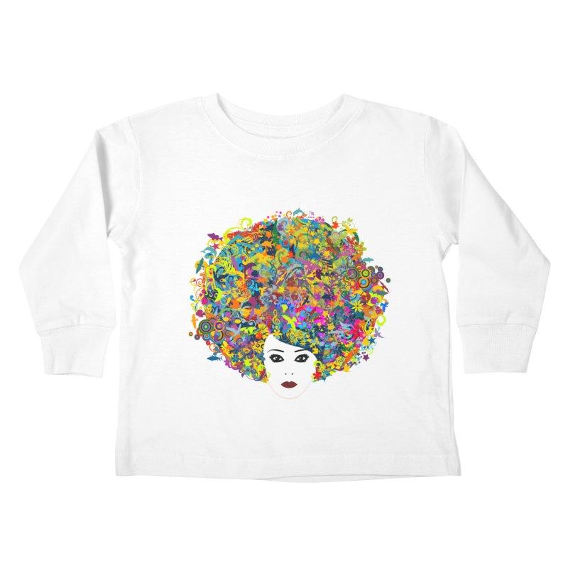 Great Hair Day Kids Toddler Longsleeve T-Shirt by ferg's Artist Shop