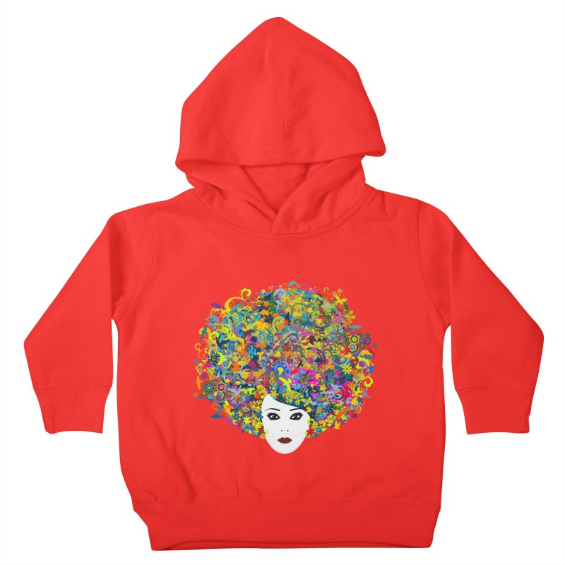 Great Hair Day Kids Toddler Pullover Hoody by ferg's Artist Shop