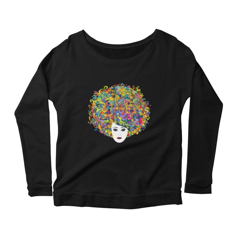 Great Hair Day Women's Scoop Neck Longsleeve T-Shirt by ferg's Artist Shop