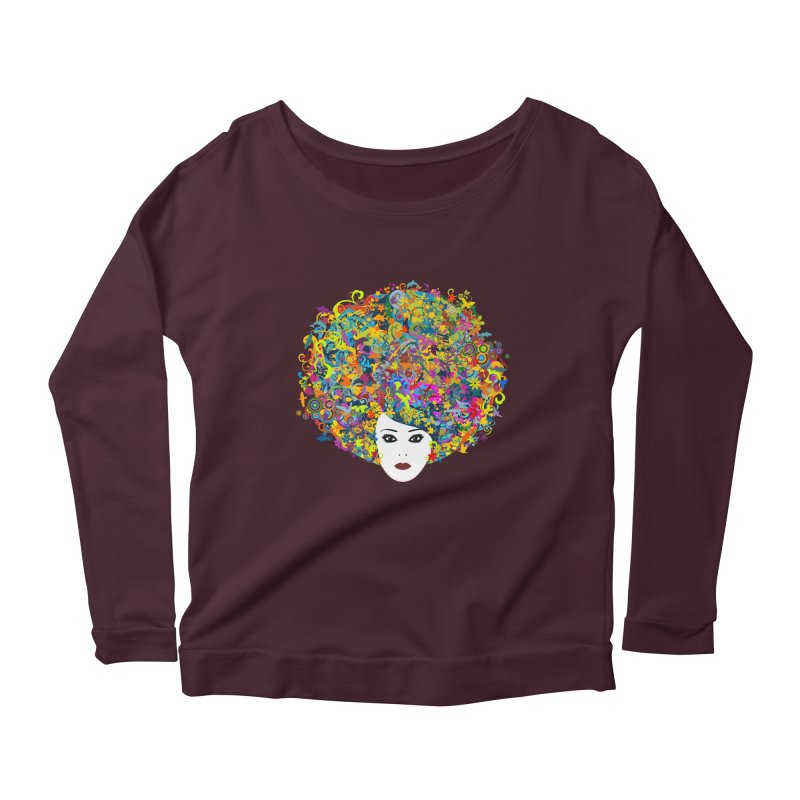 Great Hair Day Women's Longsleeve Scoopneck  by ferg's Artist Shop