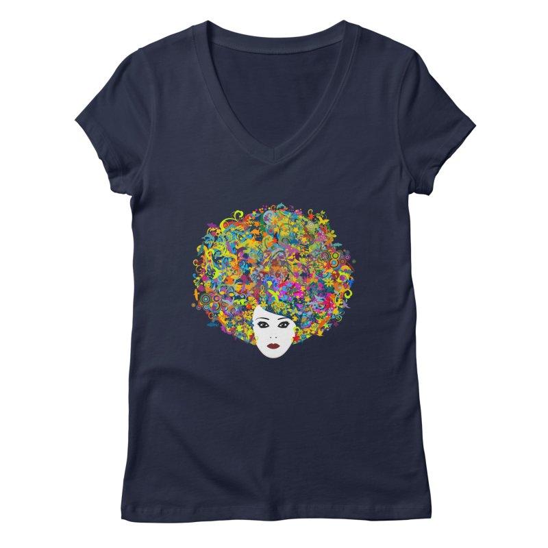 Great Hair Day Women's Regular V-Neck by ferg's Artist Shop