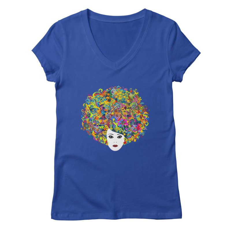 Great Hair Day Women's V-Neck by ferg's Artist Shop