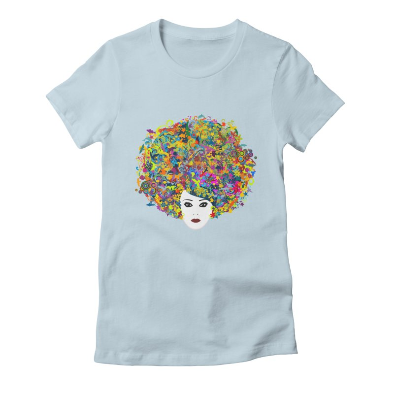 Great Hair Day Women's Fitted T-Shirt by ferg's Artist Shop