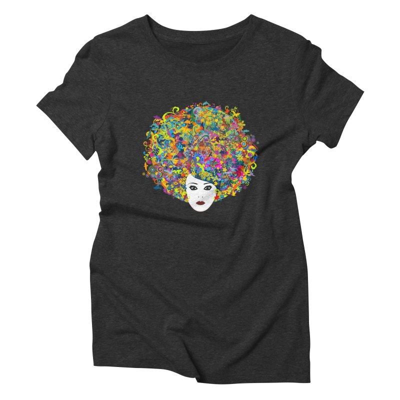 Great Hair Day Women's Triblend T-Shirt by ferg's Artist Shop