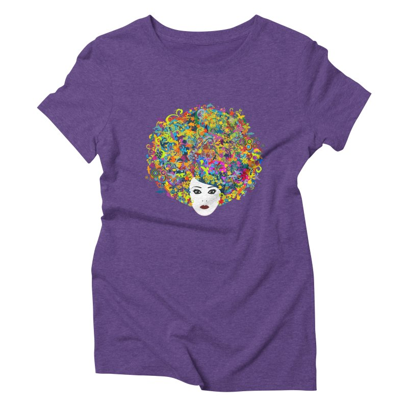 Great Hair Day Women's Triblend T-Shirt by ferg's Artist Shop