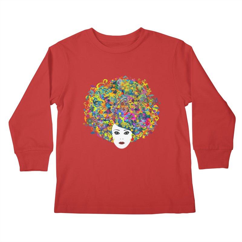 Great Hair Day Kids Longsleeve T-Shirt by ferg's Artist Shop