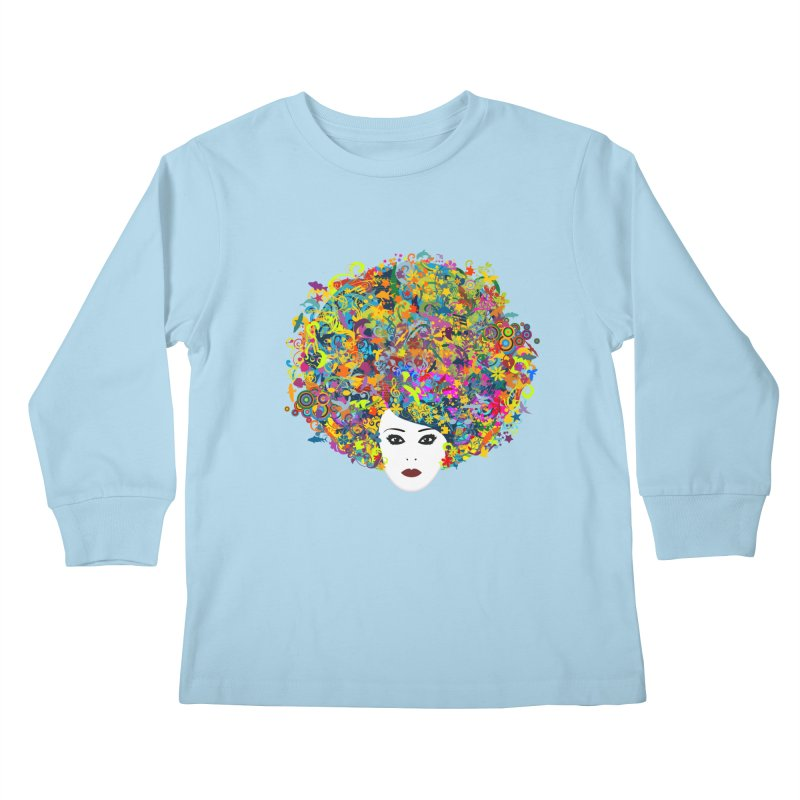 Great Hair Day Kids Longsleeve T-Shirt by ferg's Artist Shop