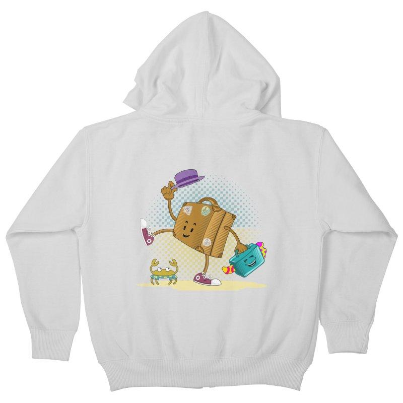 Holidays Kids Zip-Up Hoody by ferg's Artist Shop