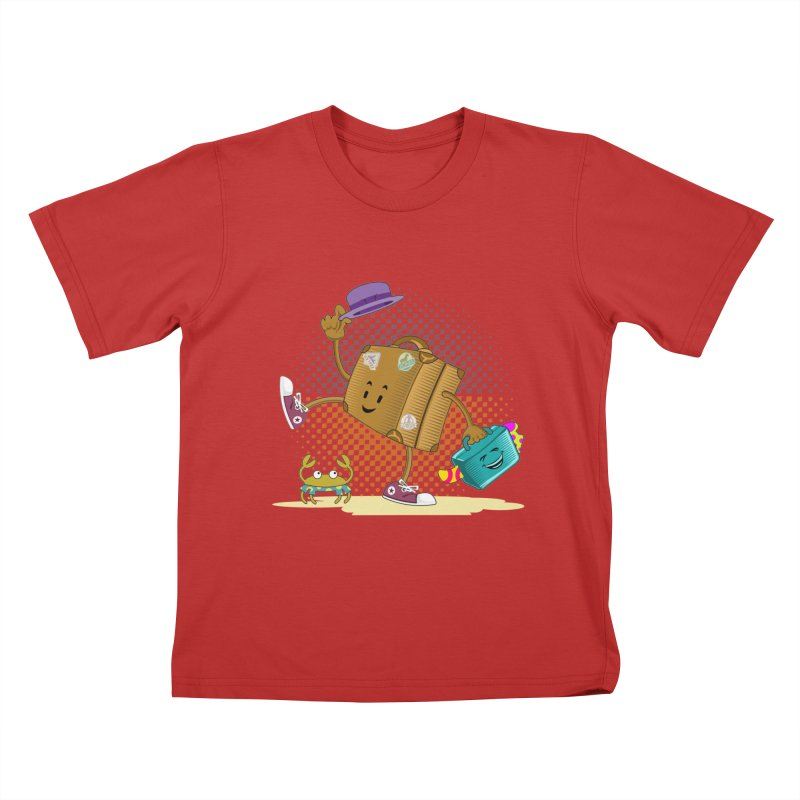 Holidays Kids T-Shirt by ferg's Artist Shop