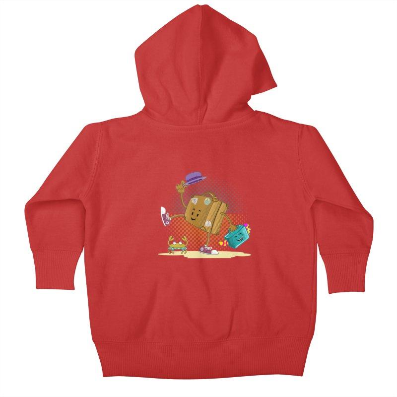 Holidays Kids Baby Zip-Up Hoody by ferg's Artist Shop
