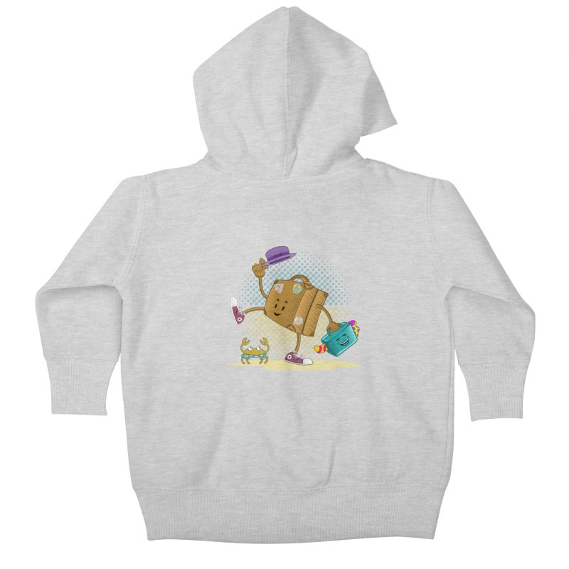 Holidays Kids Baby Zip-Up Hoody by ferg's Artist Shop