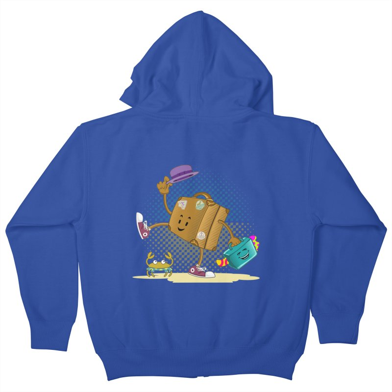 Holidays Kids Zip-Up Hoody by ferg's Artist Shop