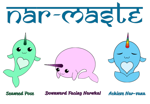 Narwhals-Doing-Yoga