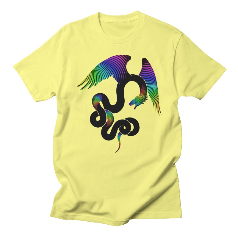Aztec Dreams Silhouette Men's T-Shirt by Ferine Fire