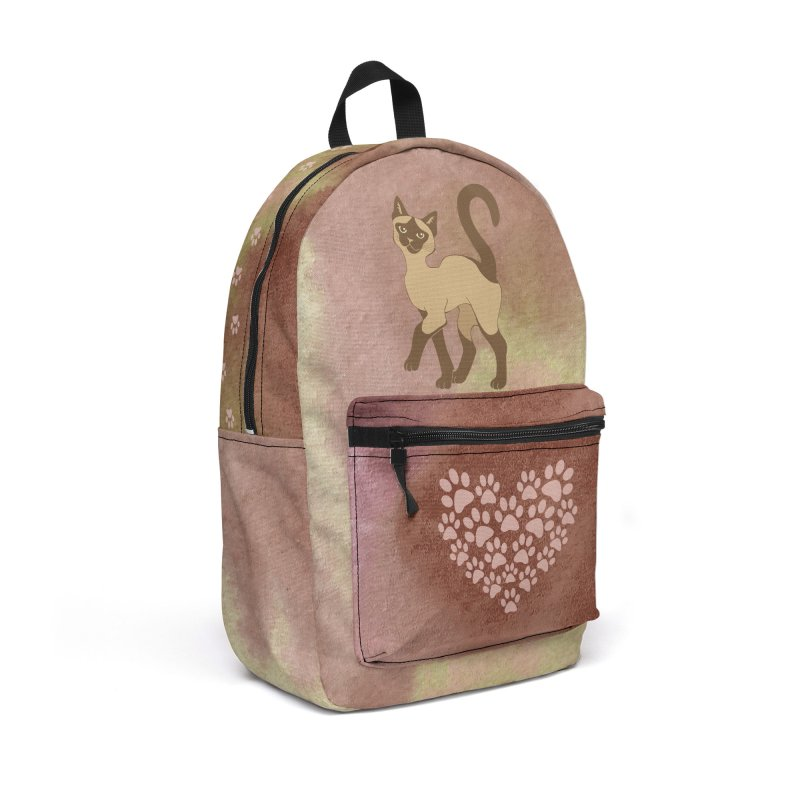 Strutting Siamese Cat - brown point Accessories Bag by Ferine Fire