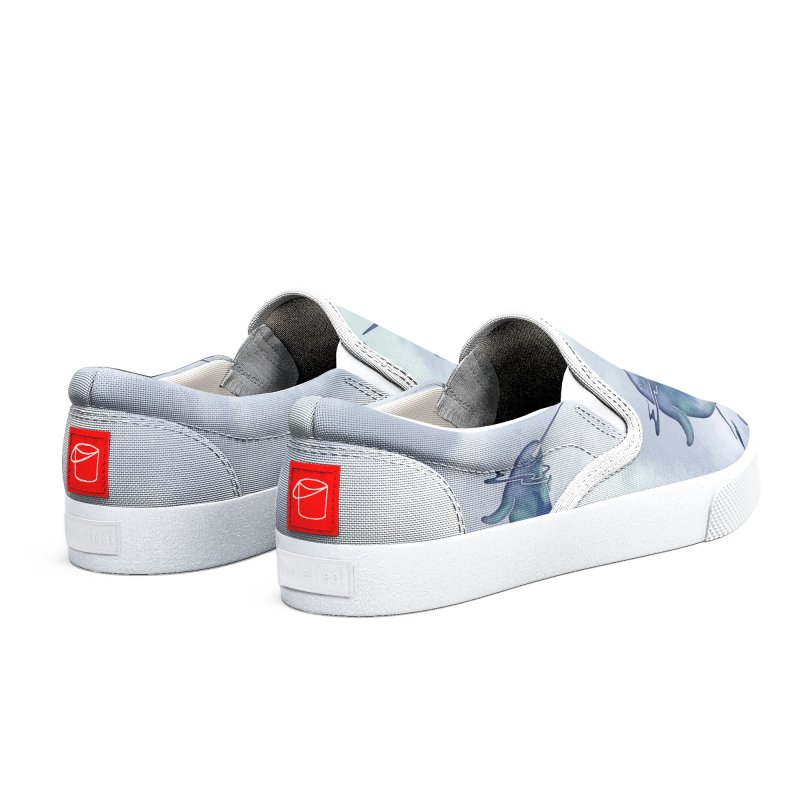 Blue Sea Narwhals Women's Shoes by Ferine Fire