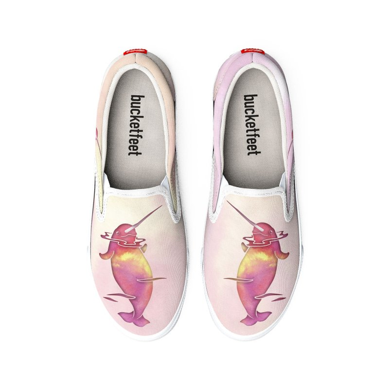 Peach Sea Narwhals Women's Shoes by Ferine Fire