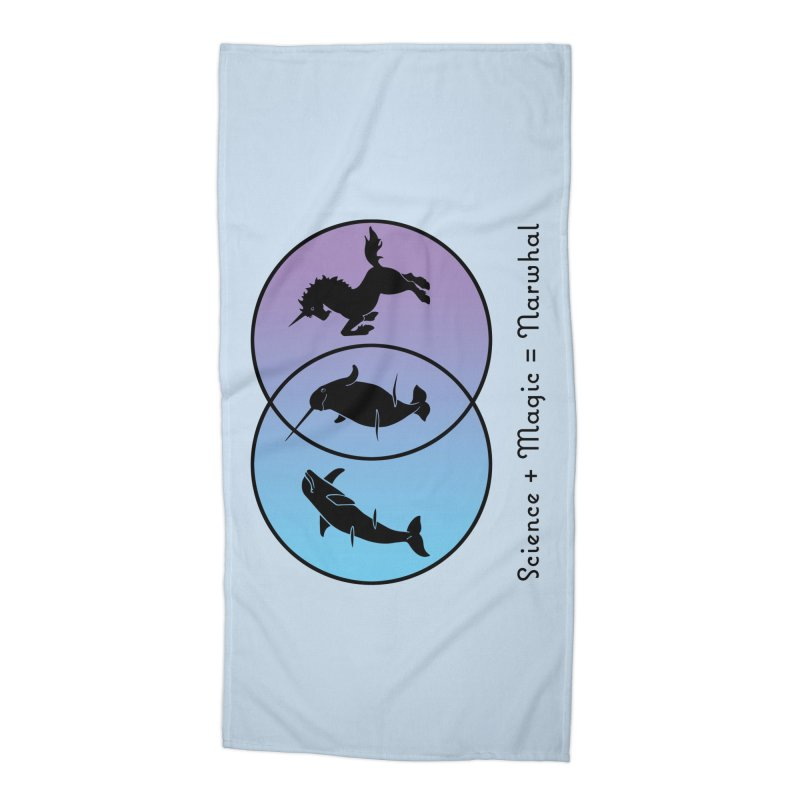 Science + Magic = Narwhal Accessories Beach Towel by Ferine Fire
