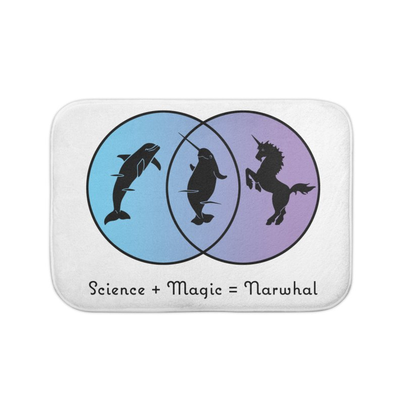 Science + Magic = Narwhal Home Bath Mat by Ferine Fire