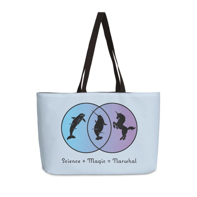 Science + Magic = Narwhal Accessories Weekender Bag Bag by Ferine Fire