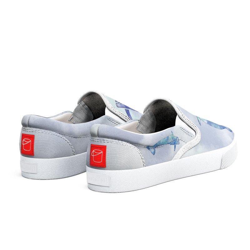 Blue Sea Dolphins Women's Shoes by Ferine Fire