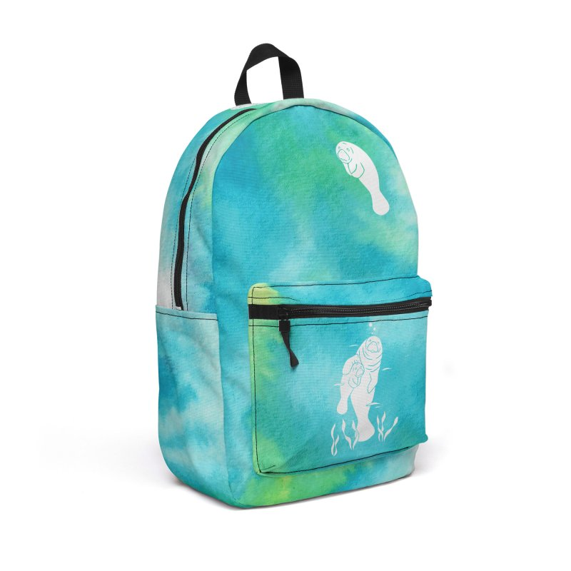 Aqua River Manatees Accessories Backpack Bag by Ferine Fire