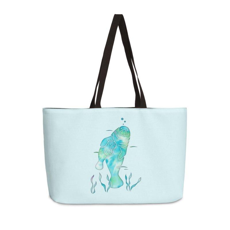 Aqua River Manatees Accessories Weekender Bag Bag by Ferine Fire
