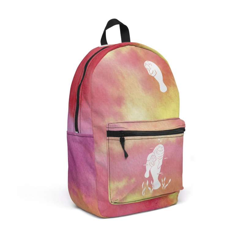 Peach River Manatees Accessories Backpack Bag by Ferine Fire