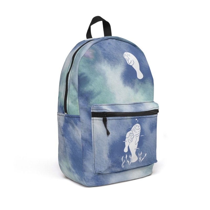 Blue River Manatees Accessories Backpack Bag by Ferine Fire