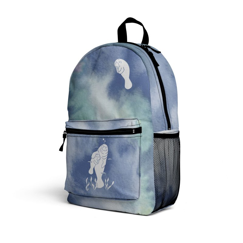 Blue River Manatees Accessories Bag by Ferine Fire
