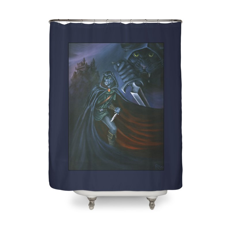 The Assassin Home Shower Curtain by Ferine Fire