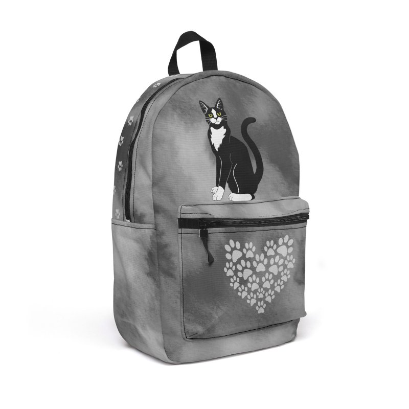 Tuxedo Cat Accessories Backpack Bag by Ferine Fire