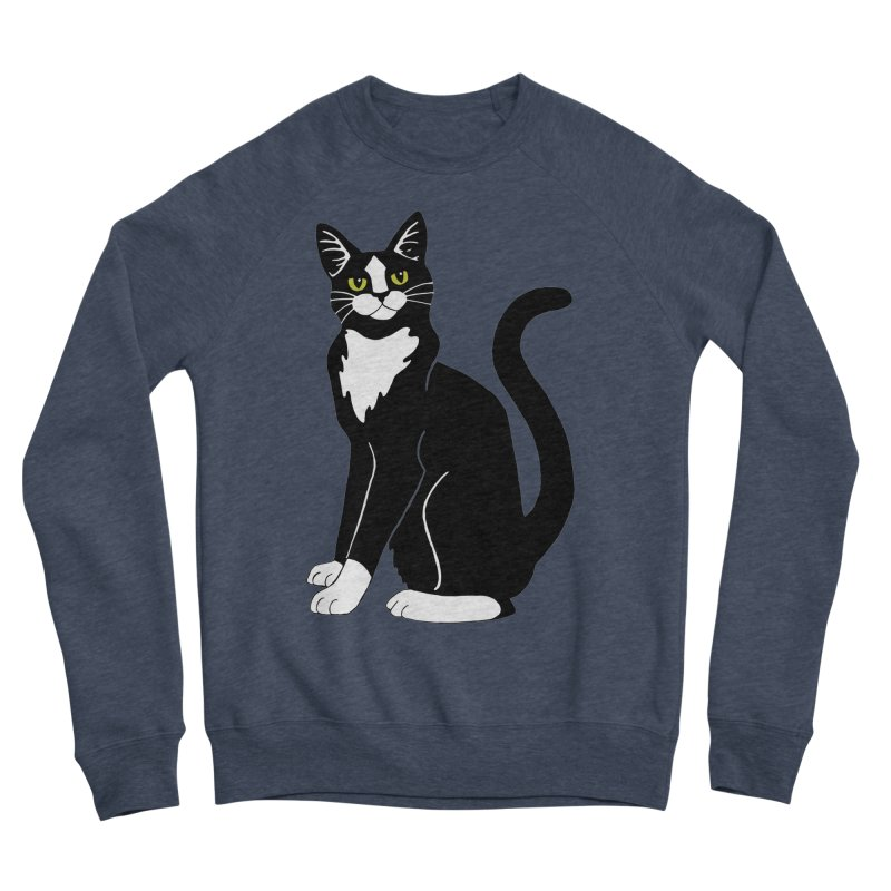 Tuxedo Cat Women's Sponge Fleece Sweatshirt by Ferine Fire