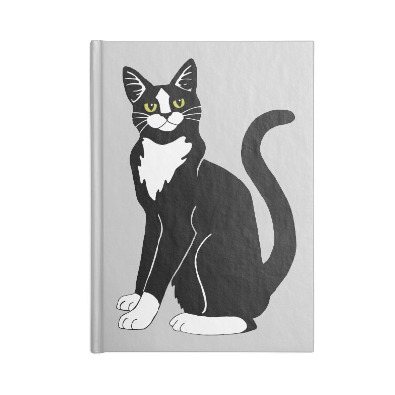 Tuxedo Cat Accessories Blank Journal Notebook by Ferine Fire