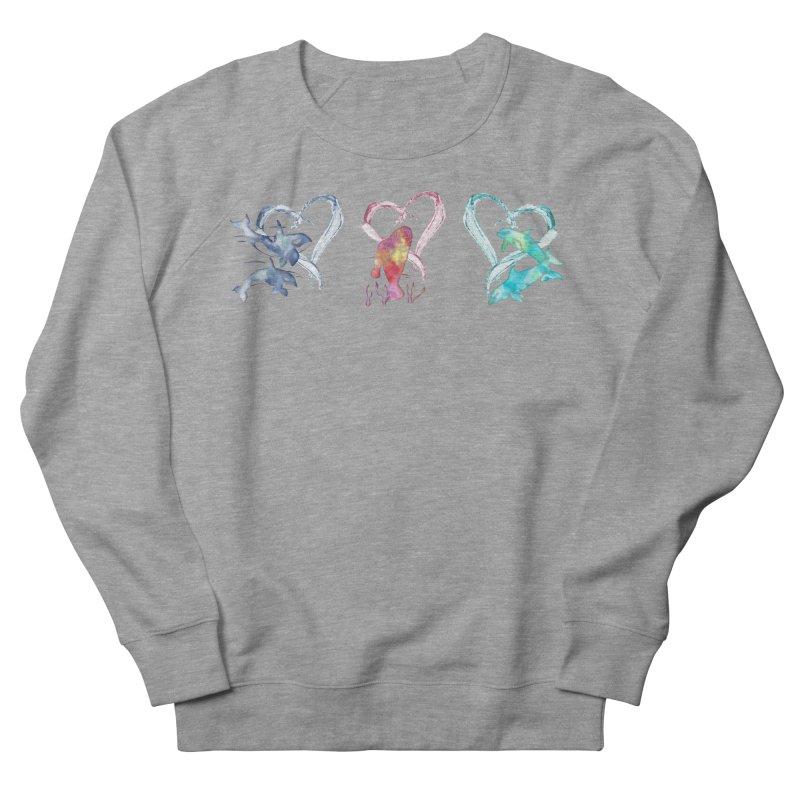 Trio D'Amour de Mer Women's French Terry Sweatshirt by Ferine Fire