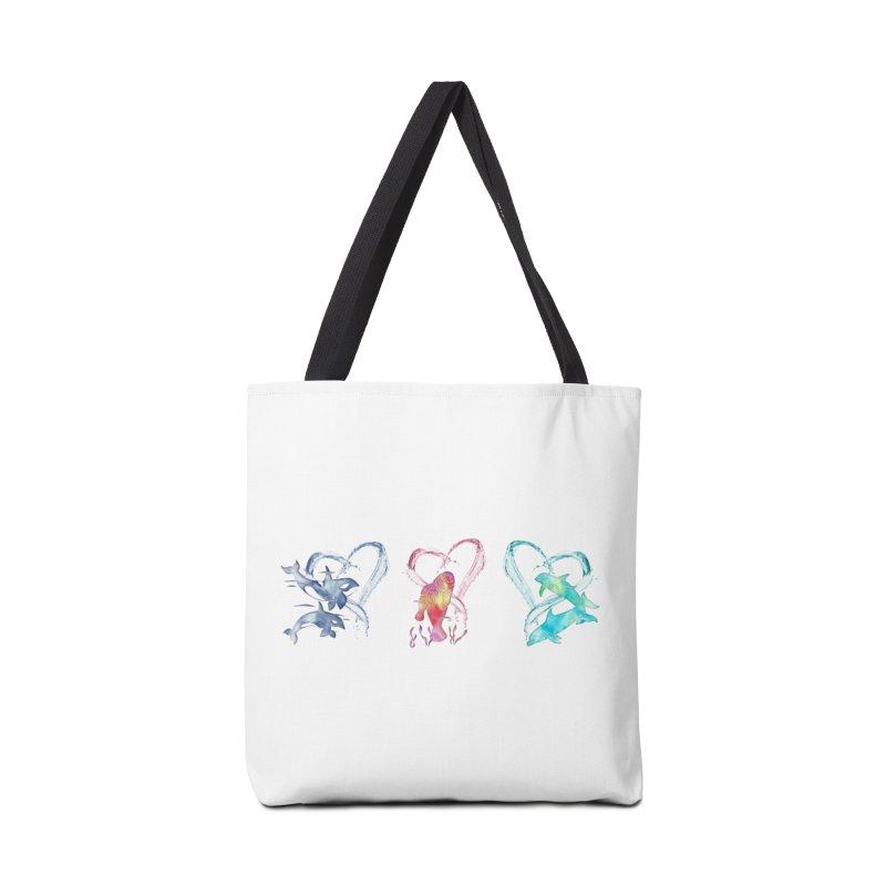 Trio D'Amour de Mer Accessories Tote Bag Bag by Ferine Fire