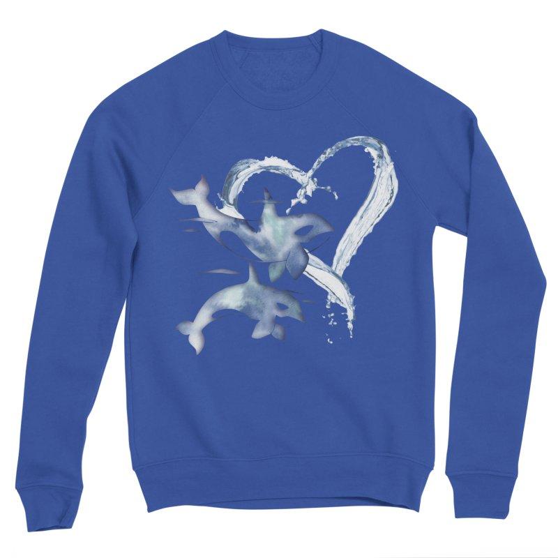 I Love Orca Whales Men's Sponge Fleece Sweatshirt by Ferine Fire