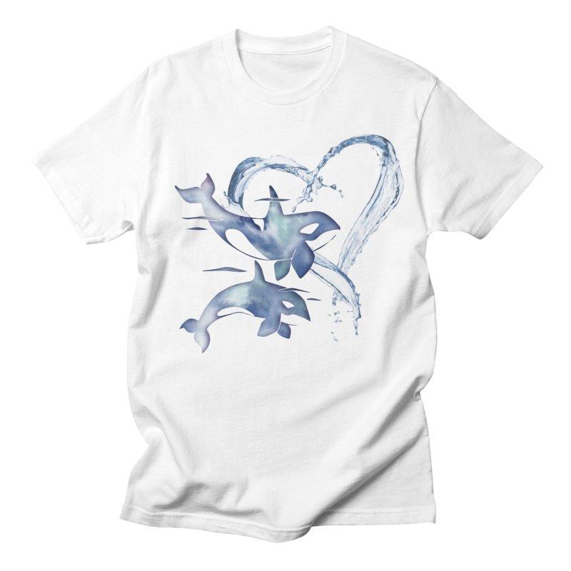 I Love Orca Whales Women's Regular Unisex T-Shirt by Ferine Fire