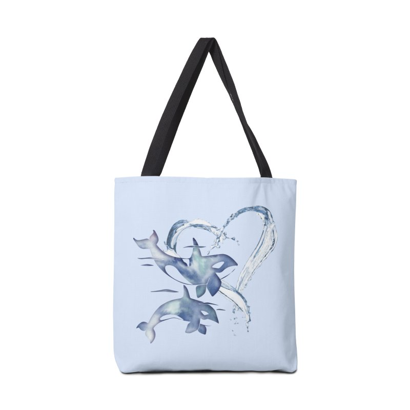 I Love Orca Whales Accessories Tote Bag Bag by Ferine Fire