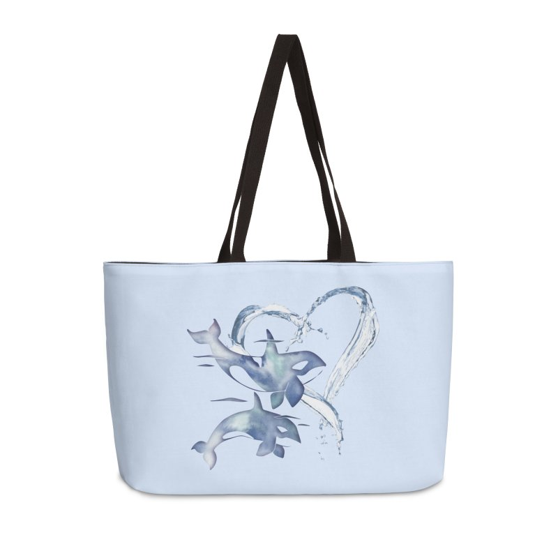 I Love Orca Whales Accessories Weekender Bag Bag by Ferine Fire