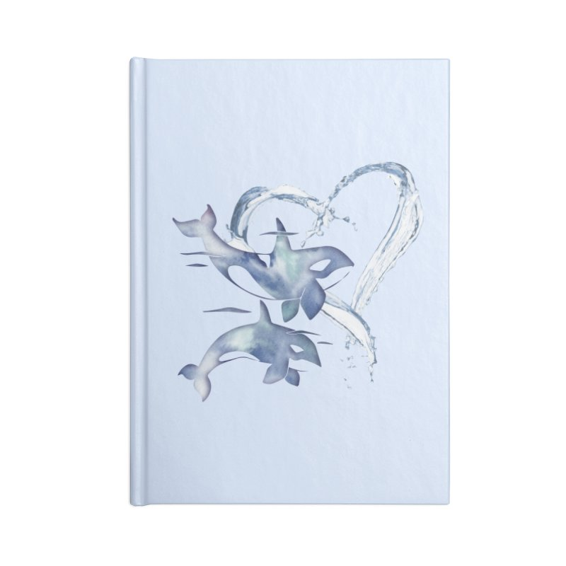 I Love Orca Whales Accessories Lined Journal Notebook by Ferine Fire