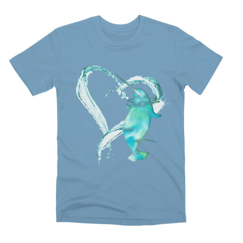I Love Narwhals Men's Premium T-Shirt by Ferine Fire