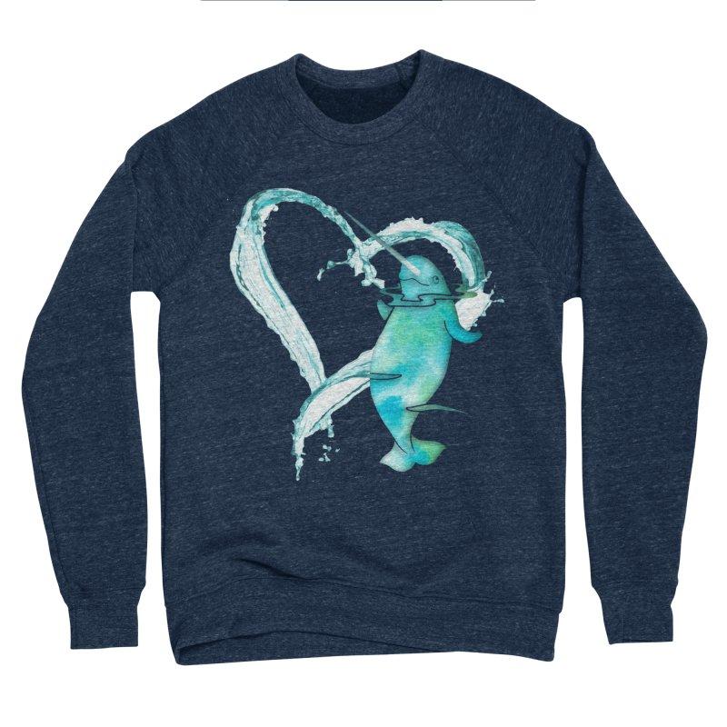 I Love Narwhals Men's Sponge Fleece Sweatshirt by Ferine Fire
