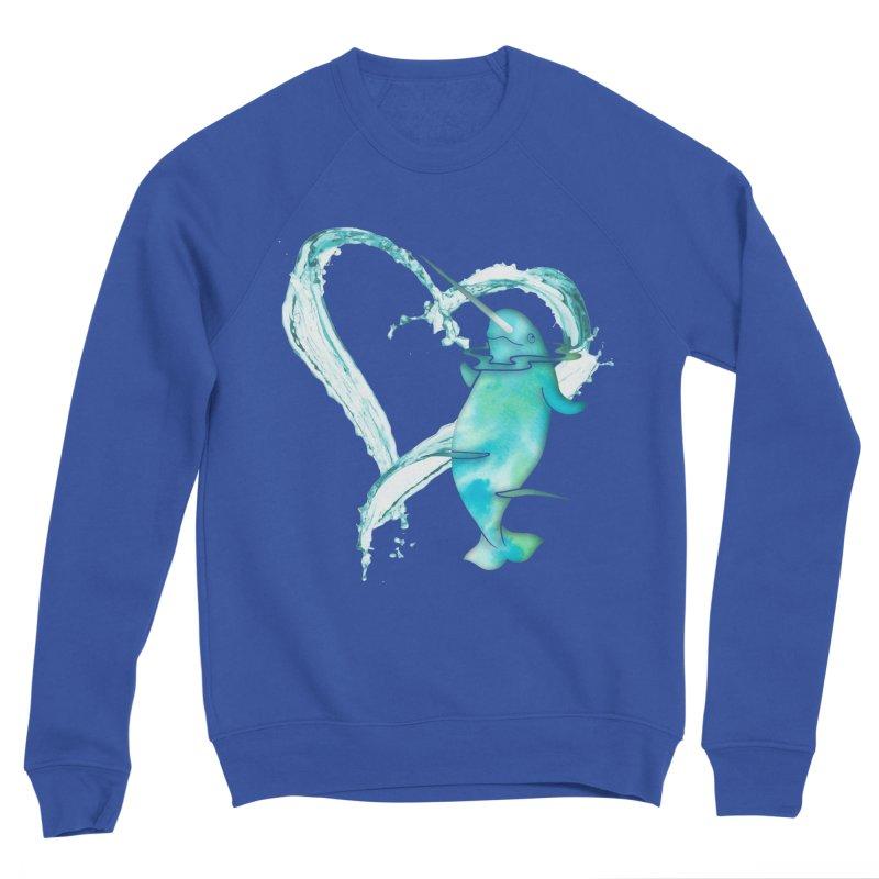 I Love Narwhals Women's Sponge Fleece Sweatshirt by Ferine Fire