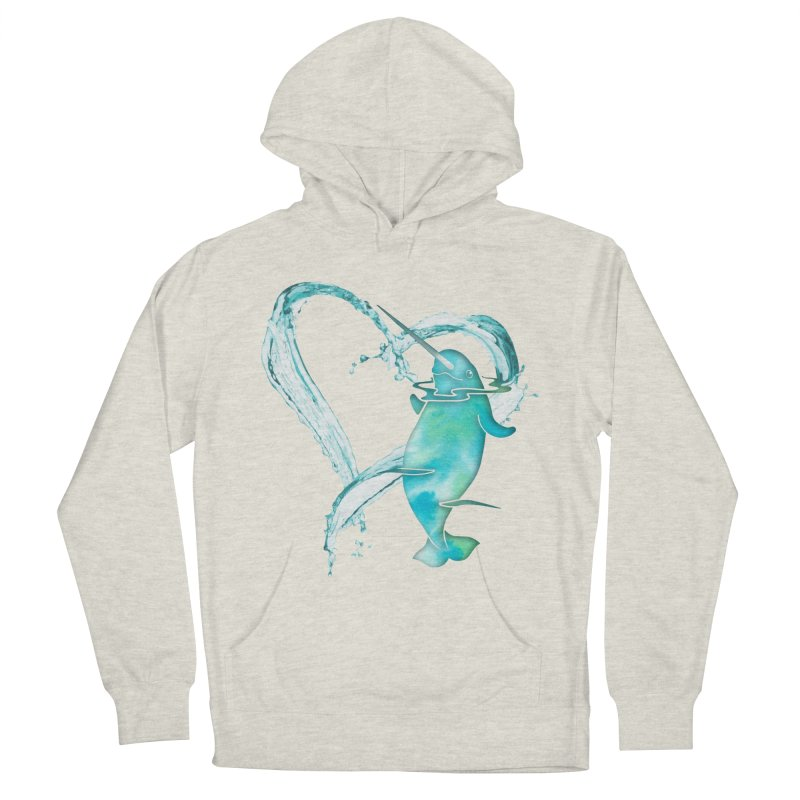 I Love Narwhals Women's French Terry Pullover Hoody by Ferine Fire
