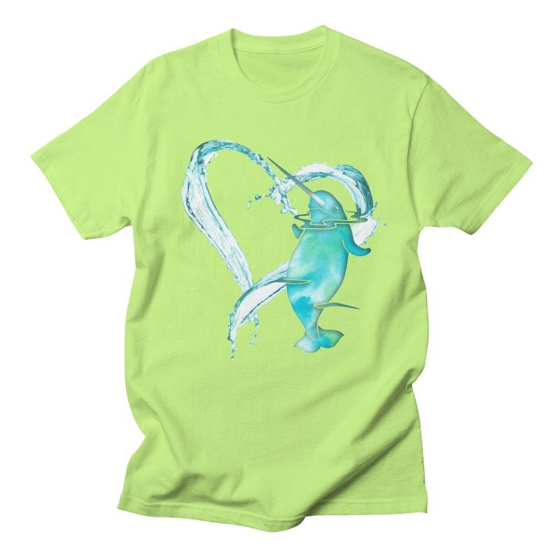 I Love Narwhals Women's Regular Unisex T-Shirt by Ferine Fire