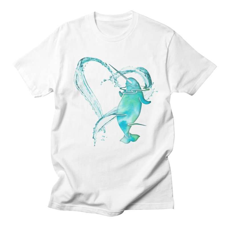 I Love Narwhals Men's T-Shirt by Ferine Fire